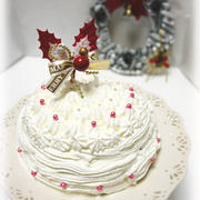 * クリスマス ★ ホワイトドームケーキ♪