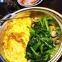 青菜とマッシュルームのオイル蒸し