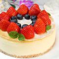 ホワイトチョコの天使の甘さ♪濃厚ベイクドチーズケーキ