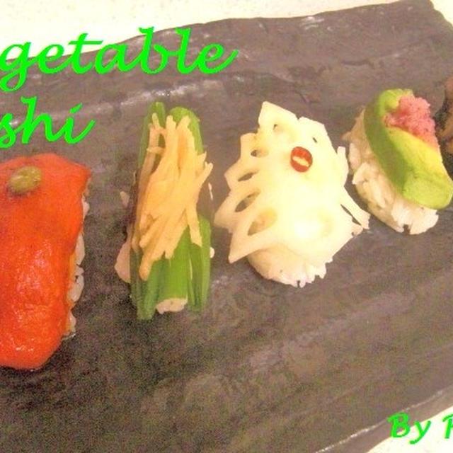 野菜寿司と炉端大将で焼く巨大ステーキ