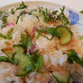 ゆず胡椒が香るちりめんじゃこと鮭のさっぱりちらし寿司 by やっこさん