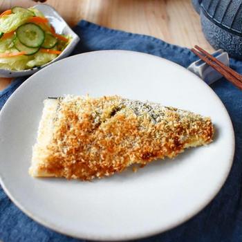 トースターで焼くだけ簡単【塩さばのマヨしょうゆパン粉焼き】