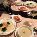 栗のスープ&手作りクリームシチュー