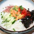 ほやビビンバ -- 酢コチュジャンで食べる刺身ビビンバ