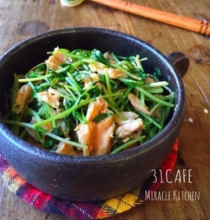 コスパ抜群!栄養豊富な「豆苗」で作る簡単副菜