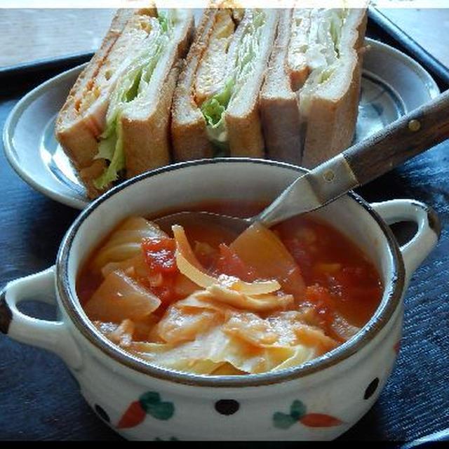 キャベツトマトスープ~缶詰作戦