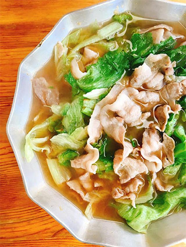 豚肉とレタスの生姜鍋