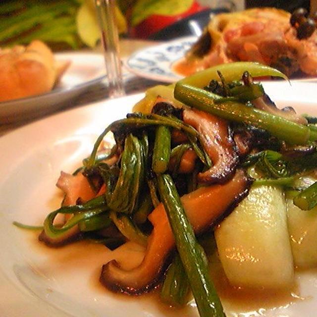 青菜炒め アジア風