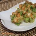 【揚げ物・海老】『バナメイエビとアスパラのかき揚げ』 揚げ物はIHやフライヤー使うと楽ちんです