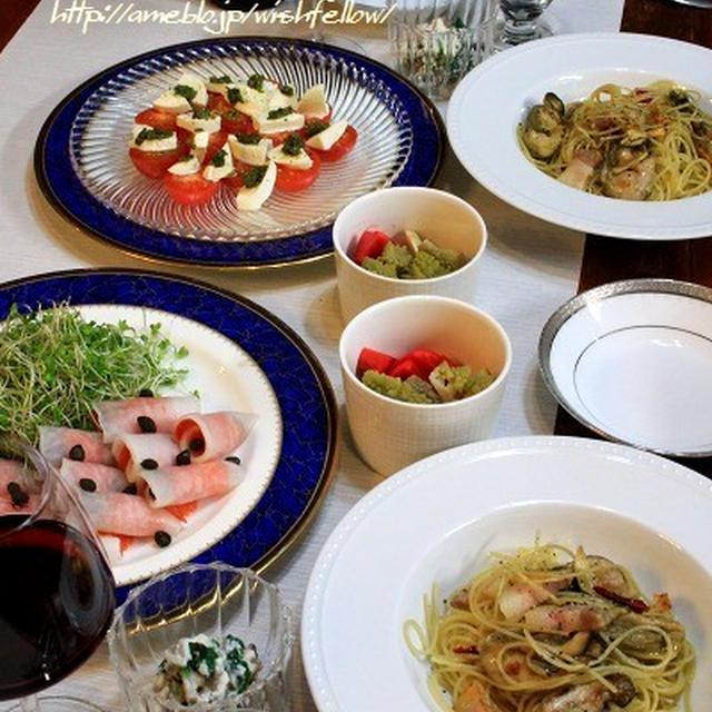 ◆牡蠣のオイル漬けとパンチェッタでパスタのおうちごはん♪