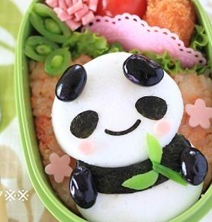【作り方】簡単★いやされパンダ弁当(キャラ弁)