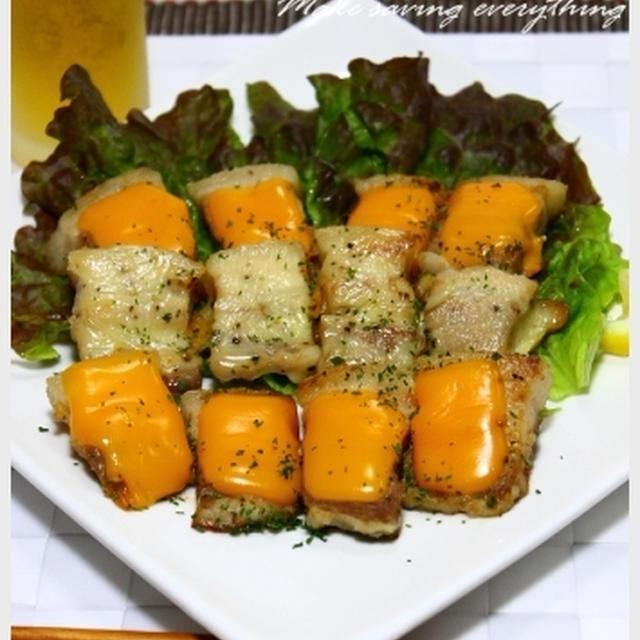 ジューシー豚の塩麹と2種のチーズ焼き