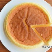 材料は たったの3個だけ!しゅわふわ スフレチーズケーキ ☆