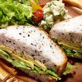チーズ入り和風たまご焼きでごまパンサンド〜♪【スパイス大使】 by ぺるしゃんさん