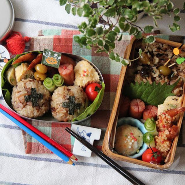 【親子弁】鶏ときのこの炊き込みご飯弁当