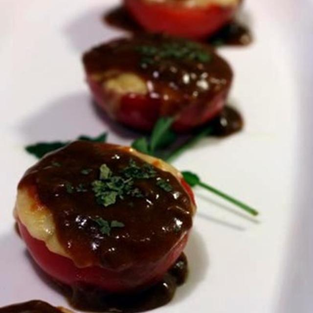 """市販のルゥで簡単♪「とろ〜りチーズの""""焼きトマト"""" *カレーソース」""""オマケのレシピ付き"""""""