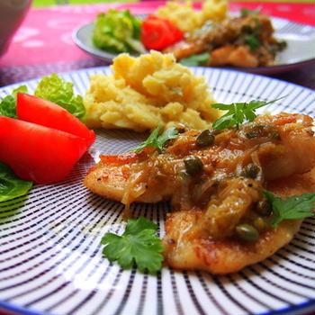 女子二人の気まま料理(2)白身魚のPICCATA