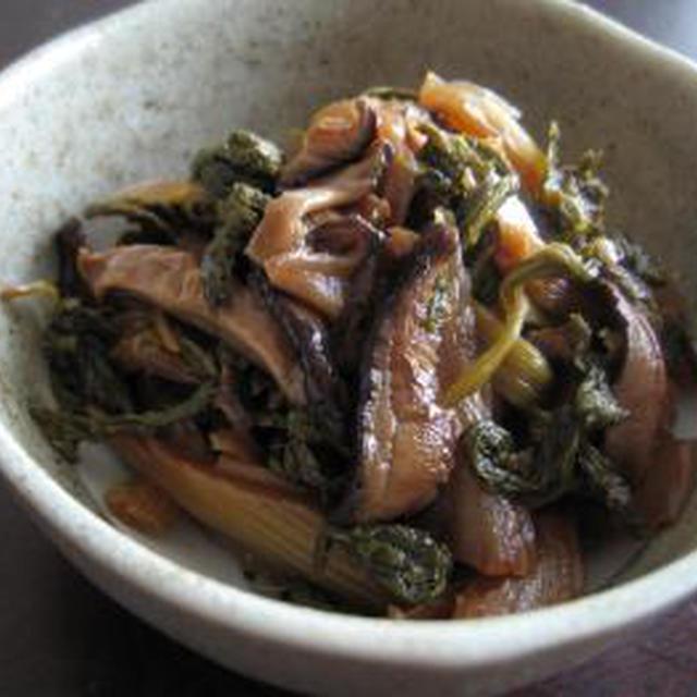 セロリと椎茸の黒黒佃煮