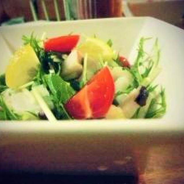 ・。*。+サッパリおいしい♪『たこと水菜のサラダ。』・。*。・+。
