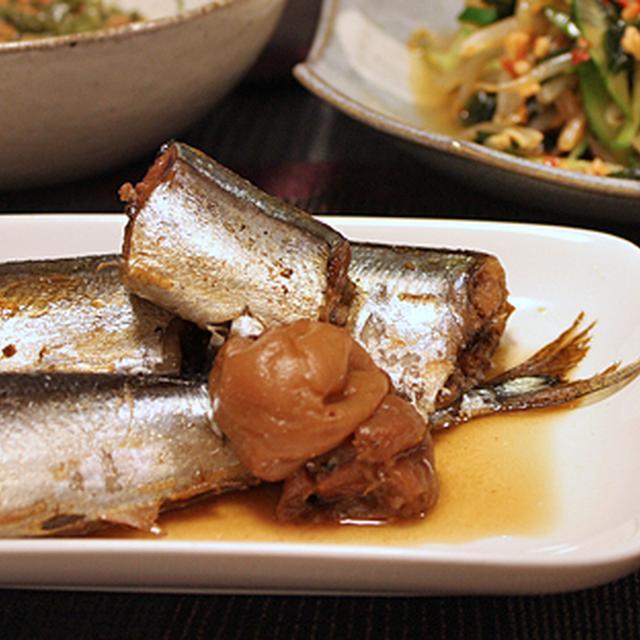 さんまの梅煮(圧力鍋レシピ )