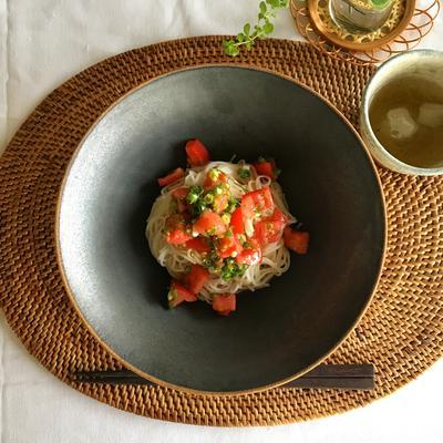 素麺で和風カッペリーニ