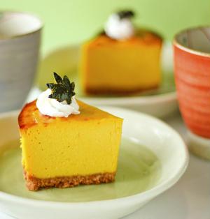 かぼちゃの煮物でチーズケーキ