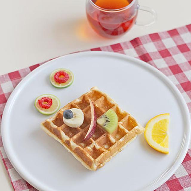 ひらめき朝食「お魚ワッフル」