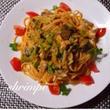 カニとブロッコリーのトマトクリームスパゲティ