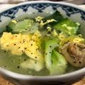 チンゲン菜と春雨のふわふわ卵スープ♪~ぐんまクッキングアンバサダー~