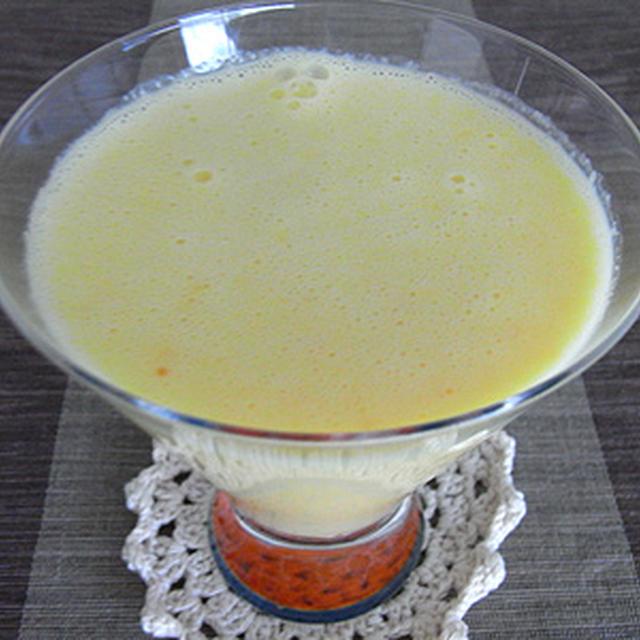 スイートスプリング+金柑+ヨーグルトのフレッシュジュース