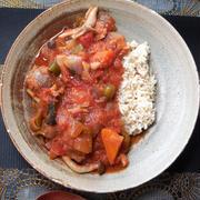 サバ缶でまろやかトマト煮