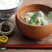 春野菜と豚肉の食べる味噌汁と、今日のレシピ