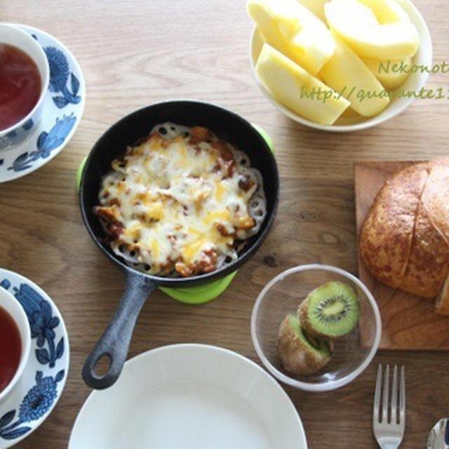 リプトンひらめき朝食・レンコンピザ