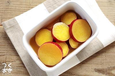 お弁当やおやつにも。さつまいものオレンジジュース煮