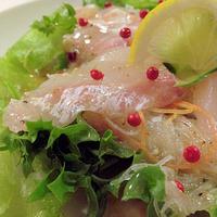 鯛のカルパッチョ風サラダ