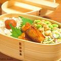 【今日のわっぱ弁当】長芋の鶏肉巻き by みぃさん