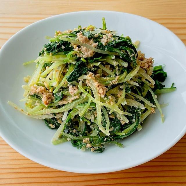 【野菜ひとつ】水菜の胡麻和え