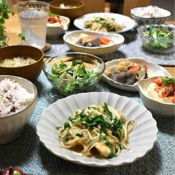 【レシピ】むね肉ともやしのゴマだれ炒め✳︎主菜✳︎野菜たっぷり…会話。