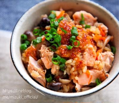 ♡鮭のバター醤油炊き込みご飯♡【#簡単レシピ#炊飯器#お弁当#魚】