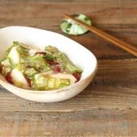 【レシピ】長芋とおくらの梅ドレッシング和え/ごはんにお酒のお供にな副菜♡/米油