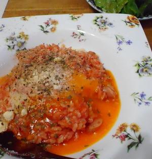 カルボナーラ風トマトリゾット