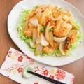 下味効果でふんわりジューシィ * 鶏むね肉と新玉ねぎの梅しょうが焼き by 庭乃桃さん