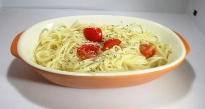 スパイスで手軽に冷製トマトパスタ