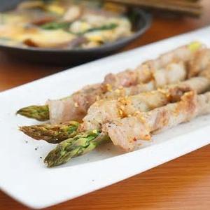 アスパラ豚肉巻き塩ガーリックペパー味