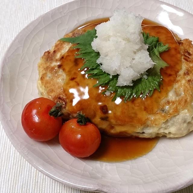 【雑穀アレンジレシピ】ヘルシー雑穀豆腐ハンバーグ&レンジで1分、簡単ぽん酢照り焼きソース