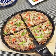 一滴がポイントな冷凍ご飯のリメイクピザ!