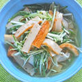 簡単おつまみおかず5分であと一品!水菜とさつま揚げのサッと煮。