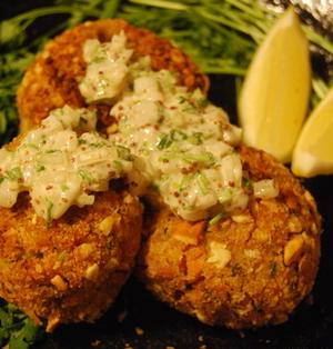 エスニックテイストのパクチー鮭コロッケ