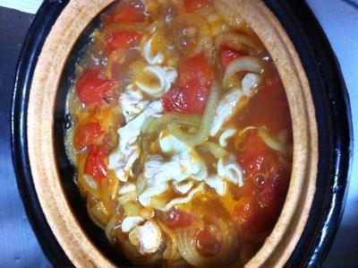 完熟トマトの豚すき焼き