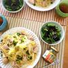 柚子胡椒香る ボリュームたっぷり鶏肉と白菜の和風パスタ